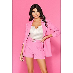 Quiz - TOWIE fuchsia pink 3/4 sleeves suit jacket