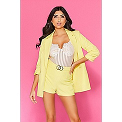 Quiz - TOWIE yellow 3/4 sleeves suit jacket