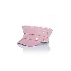Quiz - Pink vinyl baker boy hat