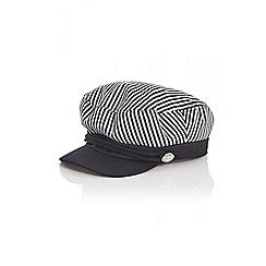 Quiz - White stripe baker boy hat