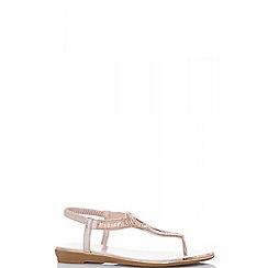 Quiz - Rose gold metallic swirl sandals