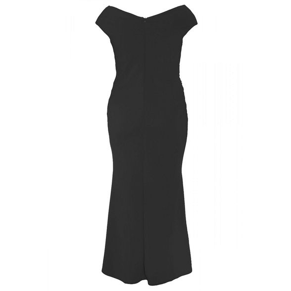 dress Curve wrap maxi black Quiz 6xApF1q