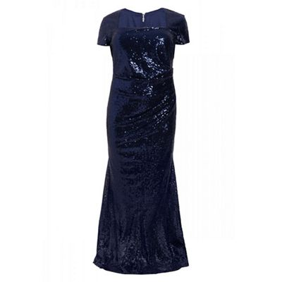43cf1f5c13ff Quiz - Curve navy sequin maxi dress