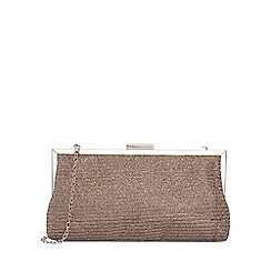 Quiz - Gold shimmer purse bag