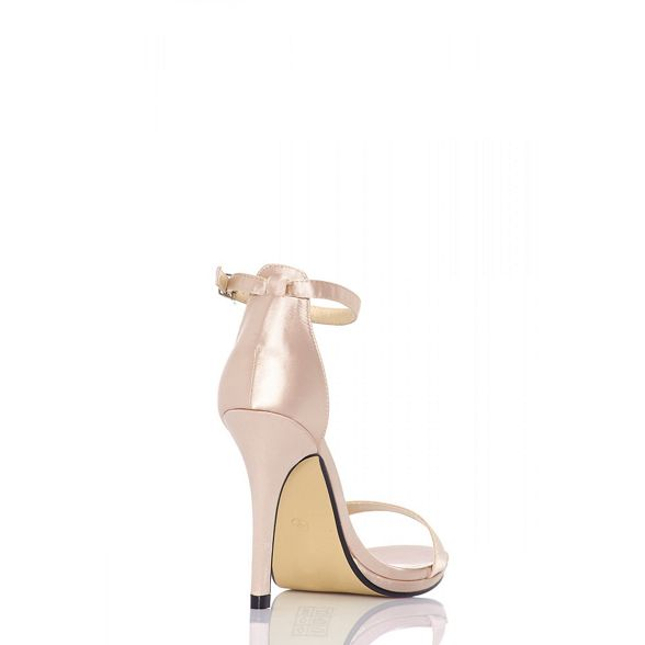 satin heel barely Nude there sandals Quiz CBx10wq