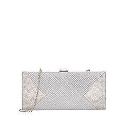 Quiz - Silver shimmer glitter clip bag