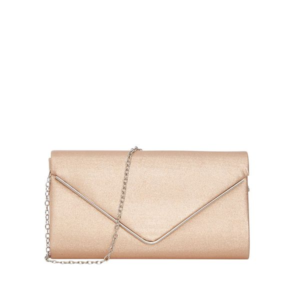 Quiz shimmer Rose bag clutch gold envelope Sq6RZw