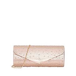 Quiz - Rose gold jewel envelope bag