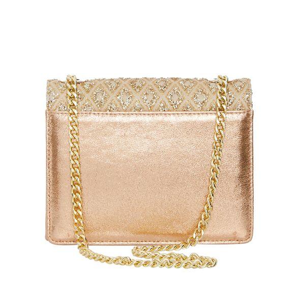 diamond Quiz bag clutch glitter Gold qErEa