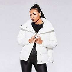 Quiz - Towie cream puffer jacket