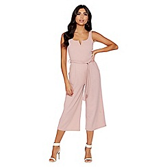 Quiz - Dusky pink culottes jumpsuit
