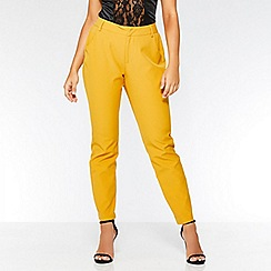 Quiz - Mustard tapered pocket detail trousers