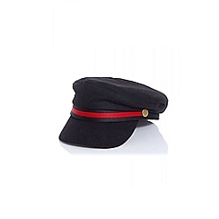 Quiz - Black stripe military hat