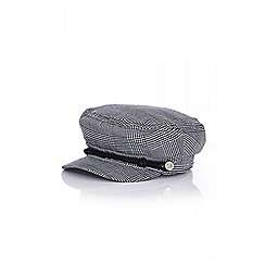 Quiz - Grey check baker boy hat
