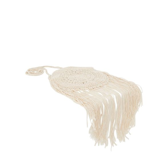 Cream tassel Quiz crochet Quiz bag crochet tassel Quiz Cream bag Cream BxwR0
