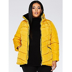Quiz - Curve mustard padded jacket