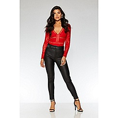 Quiz - Black high waisted skinny trousers