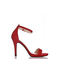 Quiz - Red barely there high heel sandals