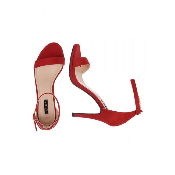 sandals Red Quiz there barely heel high x18qq0wnz