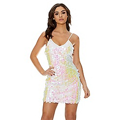 Quiz - White sequin embellished bodycon dress