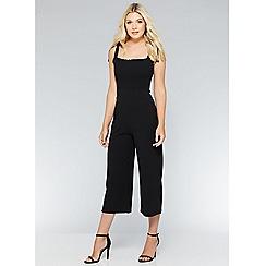 Quiz - Black knot strap jumpsuit