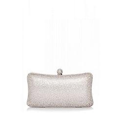 Quiz - Silver Diamante Box Bag
