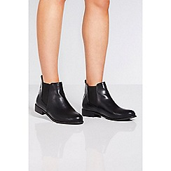 Quiz - Black diamante trim chelsea ankle boots