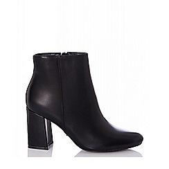 Quiz - Black block heel ankle boots