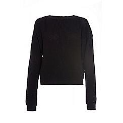 Quiz - Black Knit Long sleeve Jumper