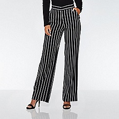 Quiz - Black and white stripe palazzo trousers