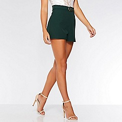 Quiz - Olivia's bottle green buckle shorts