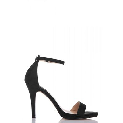 Quiz - Black Barely There High Heel Sandals