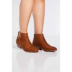 Quiz - Tan ring pull ankle boots
