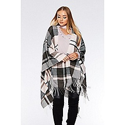 Quiz - Pink check cape