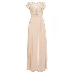 Quiz - Champagne cap sleeve chiffon maxi dress