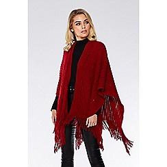 Quiz - Wine sequin knit wrap