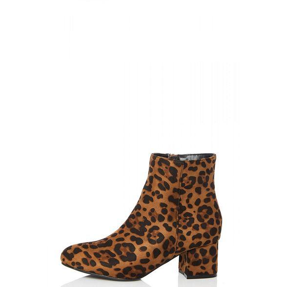 Quiz Leopard block boots ankle print heel YxBYw8rF