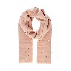 Quiz - Pink pearl knit scarf