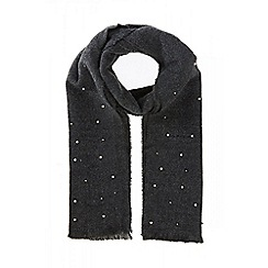 Quiz - Grey pearl knit scarf
