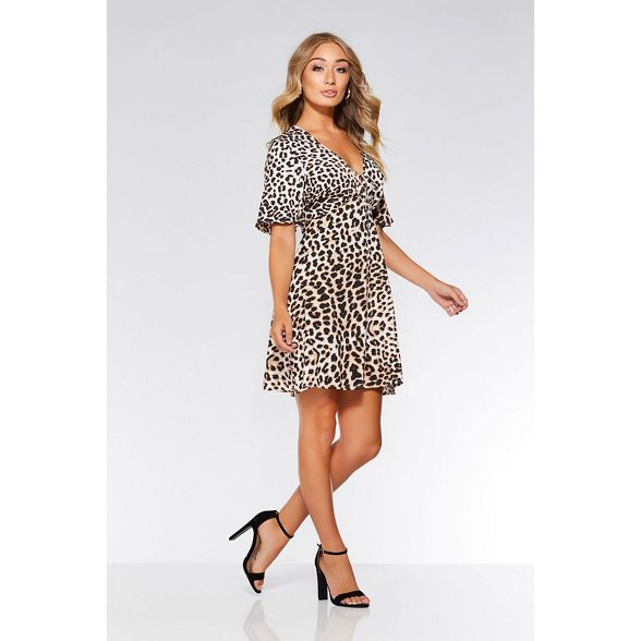 and swing black print Quiz dress Stone leopard wqCnUZ