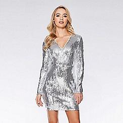 Quiz - Silver sequin bodycon dress