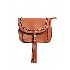 Quiz - Tan tassel strap bag