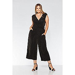 Quiz - Curve black and golf culotte jumpsuit