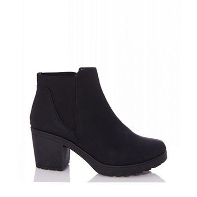 Quiz chunky - Black chunky Quiz chelsea ankle heel boots 09684b