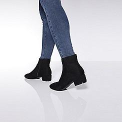 Quiz - Wide fit block heel ankle boots