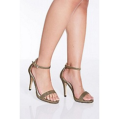 Quiz - Bronze shimmer heeled sandals