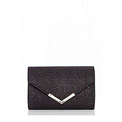 Quiz - Black shimmer envelope bag