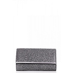 Quiz - Grey glitter clutch bag