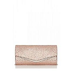 Quiz - Rose gold shimmer envelope bag