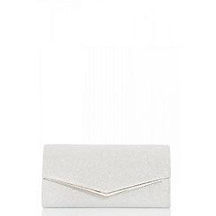 Quiz - Silver shimmer envelope bag